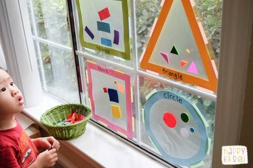 Shapes Sorting Suncatcher