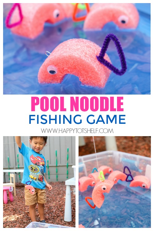 Pool noodle fishing