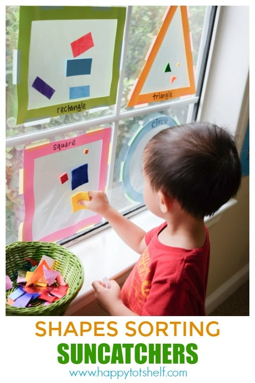 Shapes sorting activity for toddlers