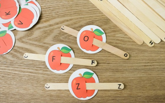 Apple & Caterpillar Letter Matching Activity and Printable