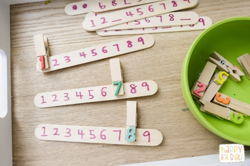 Number sequence activity for preschoolers