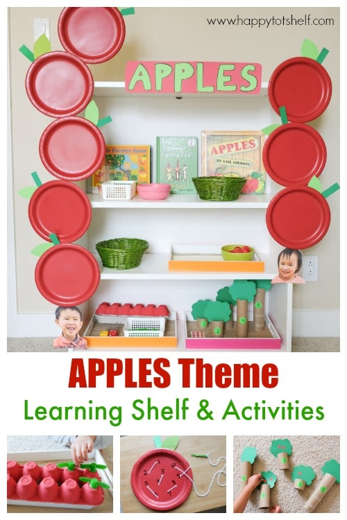 Apples theme learning activities & shelf
