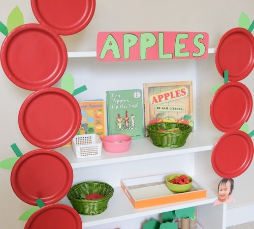 Apples Theme Learning Activities and Shelf