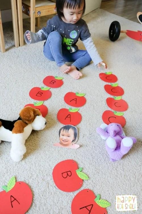 Sorting letter apples