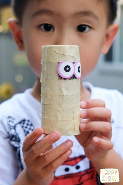 TP roll mummy craft for kids