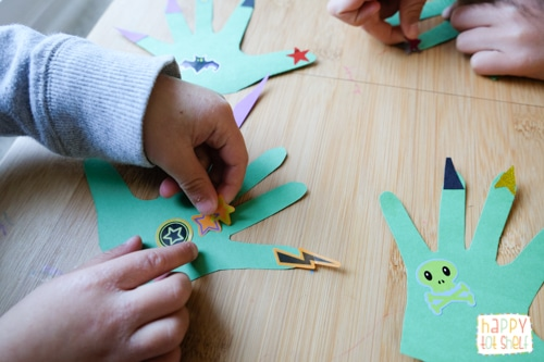 Monster theme craft activity