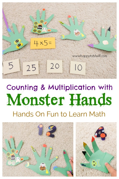 Monster theme math activity for kids