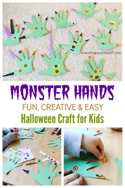 Monster Hands Craft Activity for kids