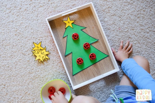 Christmas Tree Pouch Cap Counting