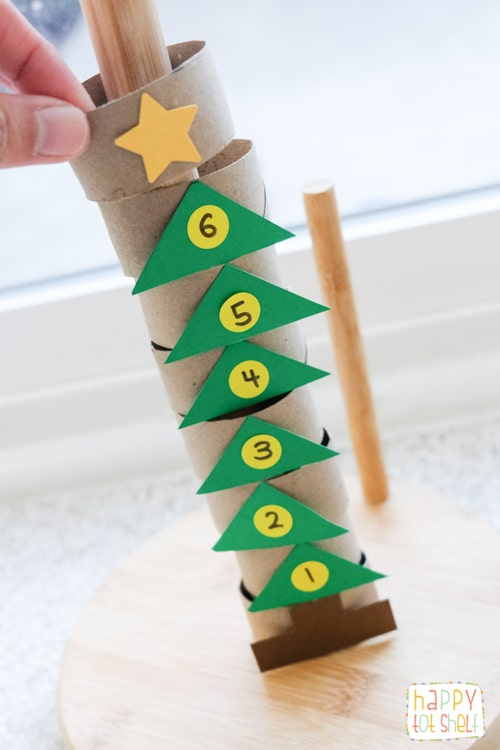 TP roll Christmas tree toy