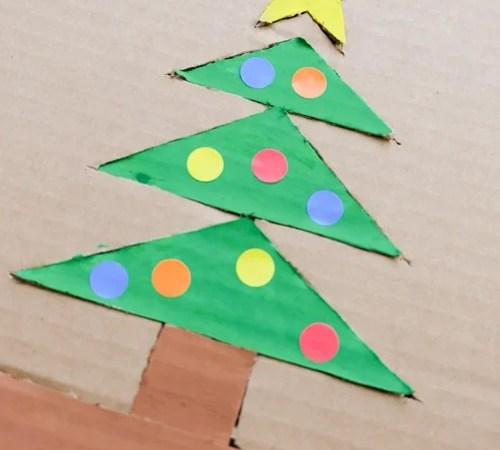 Christmas Tree Cardboard Puzzle