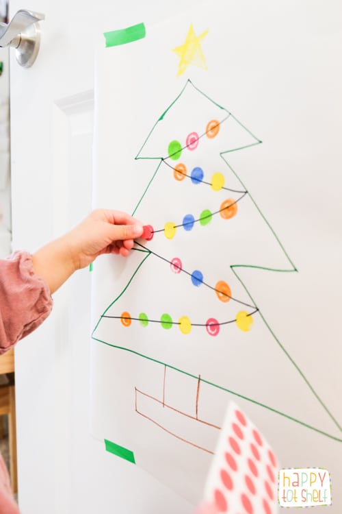 Dot sticker Christmas Tree color matching