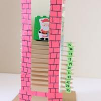 Milk Carton Chimney Christmas Countdown Craft