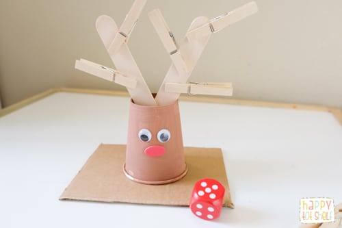 Reindeer Counting activity for kids