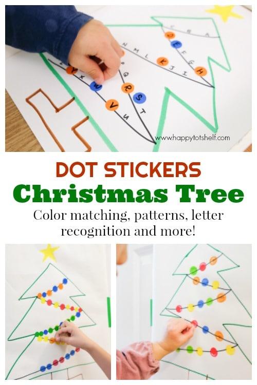 Dot sticker Christmas Tree