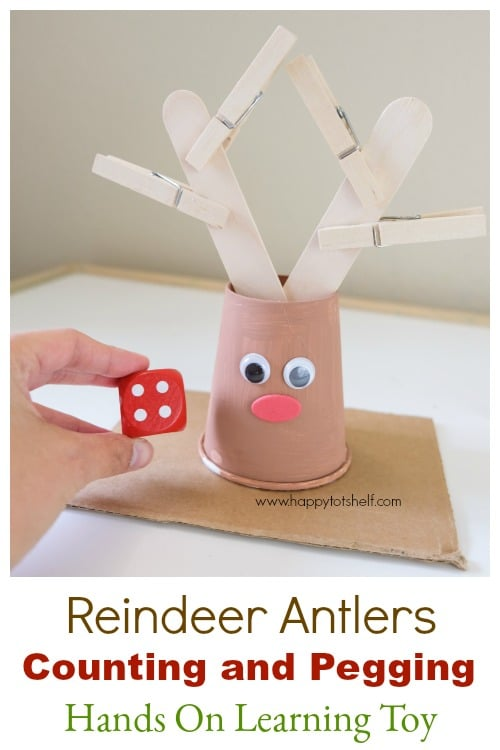 Reindeer Antlers Counting activity for kids