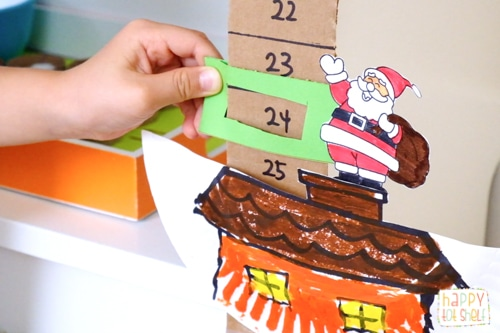 Santa Down the Chimney Christmas Countdown Craft