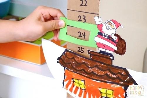 Santa Down the Chimney Christmas Countdown Craft