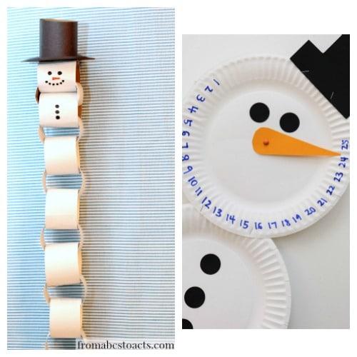 Snowman Christmas countdown ideas