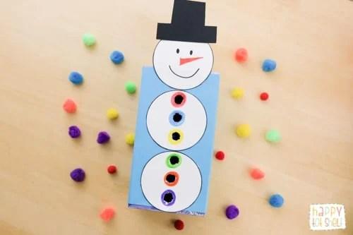Snowman Pom Pom Drop