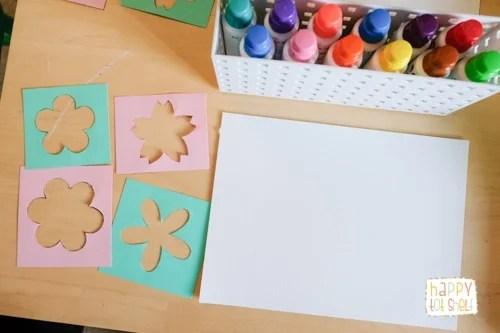 Invitation to Create Dot Marker Flower - Easy art activity for children