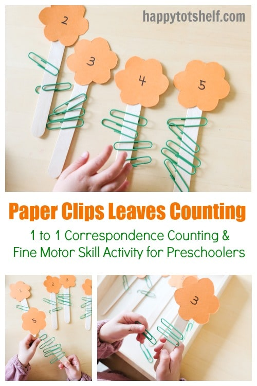 Paper Clips Leaves 1 to 1 Correspondence Counting
