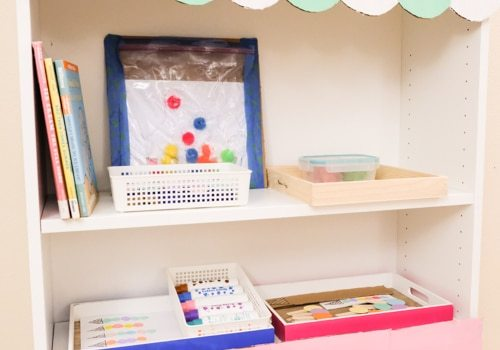 Ice Cream Theme Activities and shelf for children