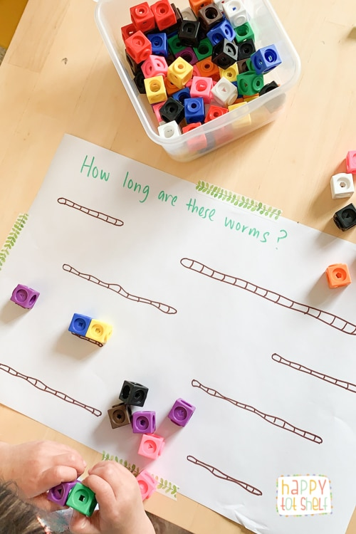 Easy measurement activity for preschoolers
