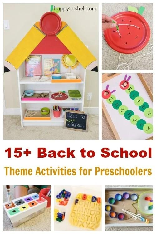 15+ Back to School Theme Activities for Preschoolers