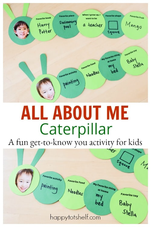 Preschool All About Me activity