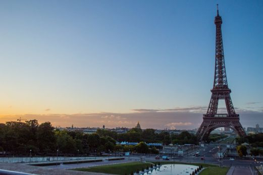 The iconic Eiffel Tower, one of the most important Paris landmarks