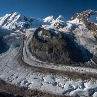 le glacier grenzgltscher de gorngrat