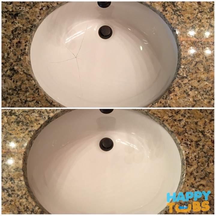 Attractive Sink Crack Repair
