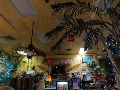 Pac Island Grill Hawaiian restaurant decor