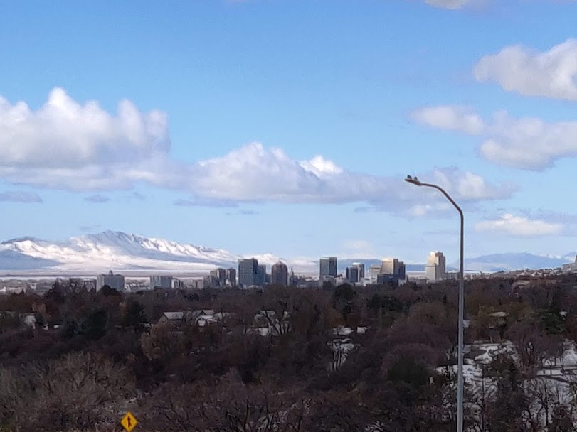 Salt Lake City view from Tanner Park