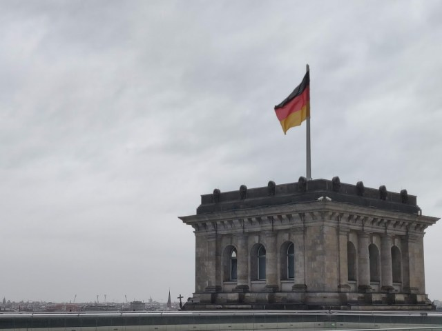 View from the roof of Reichstag Building