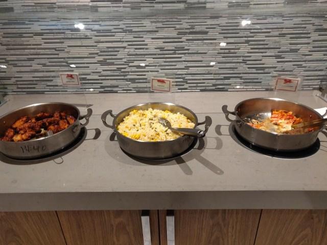 Korean Airlines Lounge Hot Food