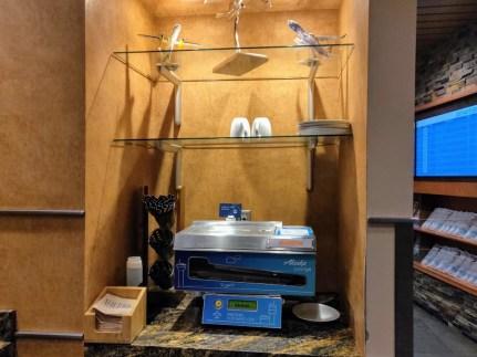 Alaska Airlines Lounge Pancake Robot
