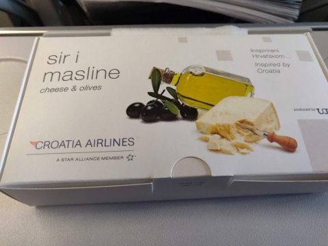Croatia Airlines Economy Snack Pack