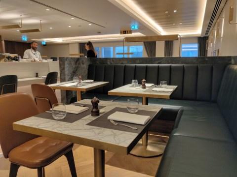 Qantas London Lounge Dining Area