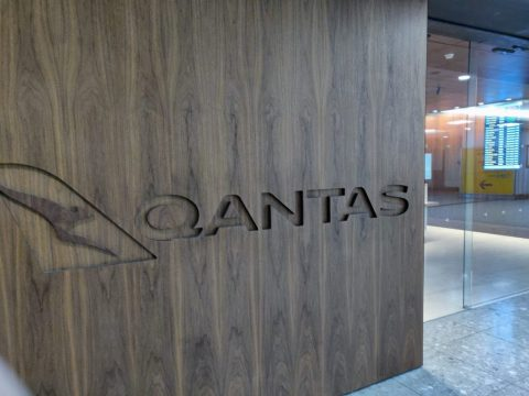 Qantas Lounge Entrance