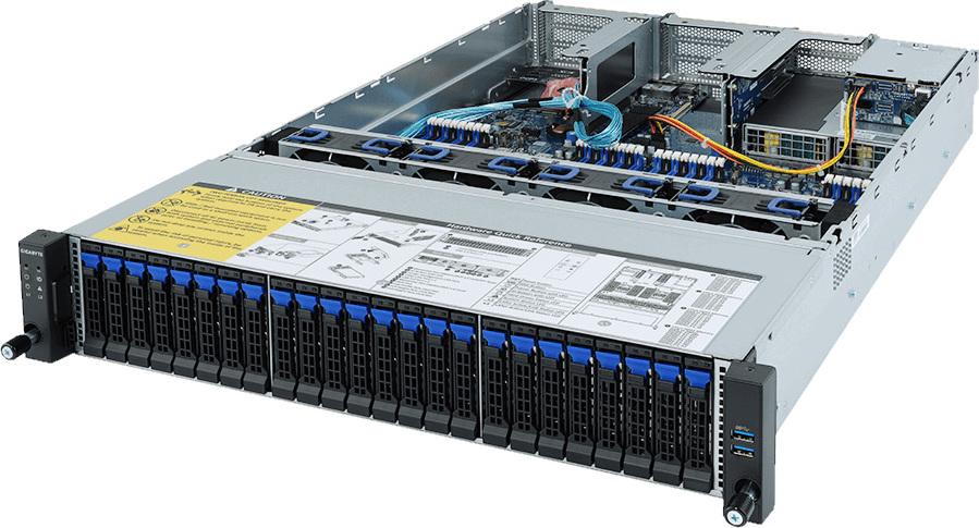 r282 z91 gigabyte dual amd epyc 2he rack server