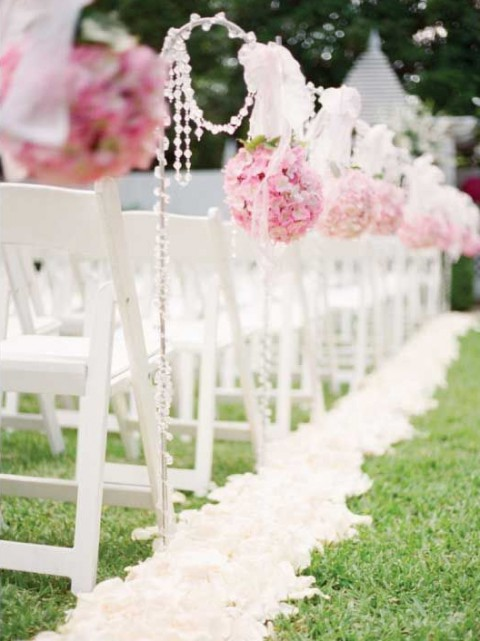 Simple Outdoor Wedding Aisle Decorations Beautiful Ceremony D Cor We Love Modwedding