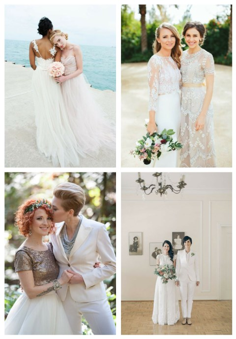 Bridal Couple Outfits For Same Sex Weddings