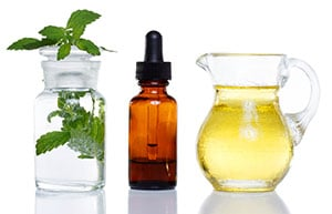 Mint essential oil with carrier oil