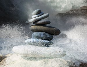 zen-stones-three-legged-stool keep major illness at bay