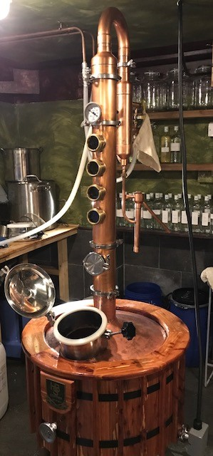 Copper Still for gin making