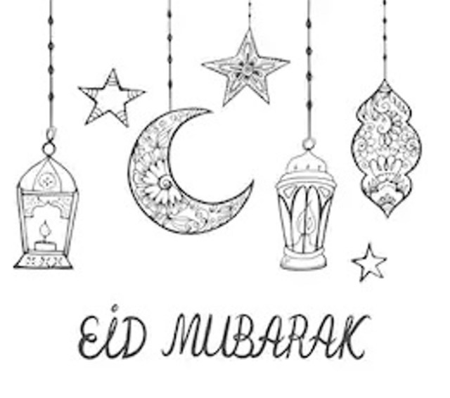 eid mubarak coloring pages 2020