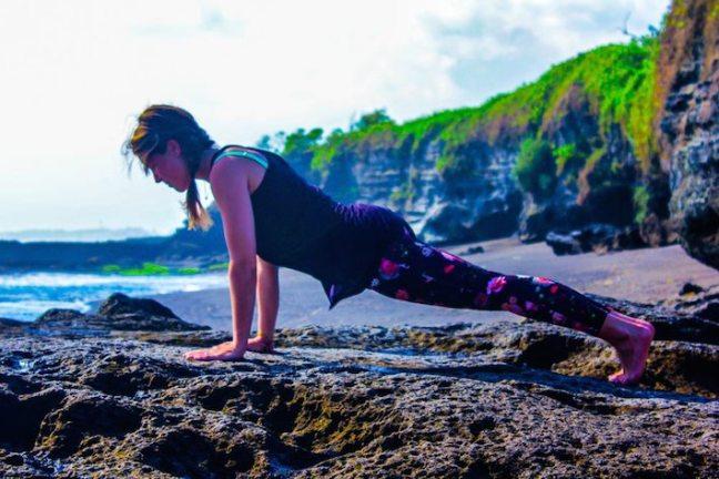 yoga plank houding