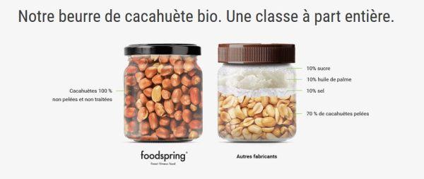 beurre de cacahuete 600x253 - FoodSpring : premières impressions